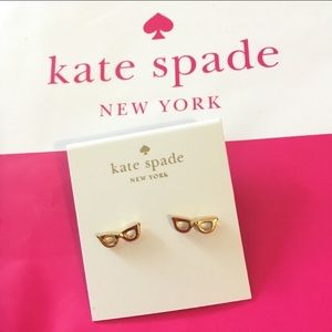 Kate spade lookout gold glasses earring